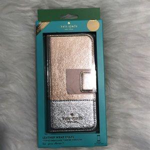 Kate Spade ♠️ Leather Wrap Folio Iphone 7 /8 New